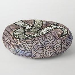 Purple Ampersand Floor Pillow