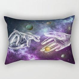 The meeting of souls. Rectangular Pillow