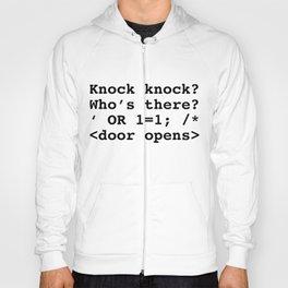 Funny SQL print SQL Injection Knock Knock Joke product design graphic Hoody