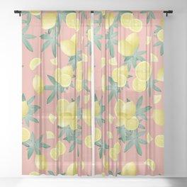 Lemon Twist Vibes #2 #tropical #fruit #decor #art #society6 Sheer Curtain