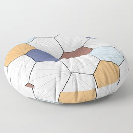 Mara (Wood & blue) Floor Pillow