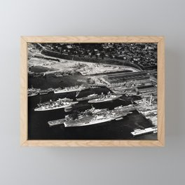 View of Puget Sound Navy Yard in 1940 Framed Mini Art Print