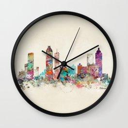 atlanta georgia skyline Wall Clock