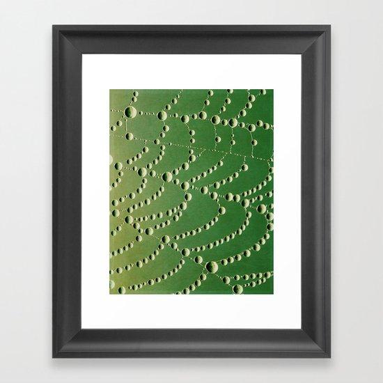 string of beads Framed Art Print