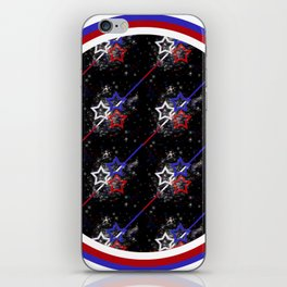 Stars and Stripes Diameter iPhone Skin