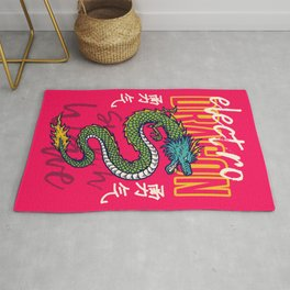 Oriental Dragon Tattoo Poster Rug
