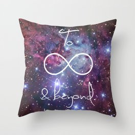 To Infinity and Beyond Galaxy Nebula Throw Pillow