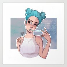 electric blue Art Print