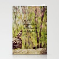 jane eyre Stationery Cards featuring I Am No Bird Jane Eyre Charlotte Bronte Quote by KimberosePhotography