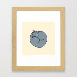 Sleeping Cat 2 Framed Art Print