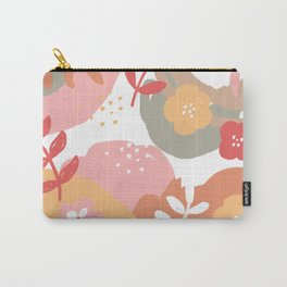 Flowers and leaves. Abstraction. White background. Carry-All Pouch