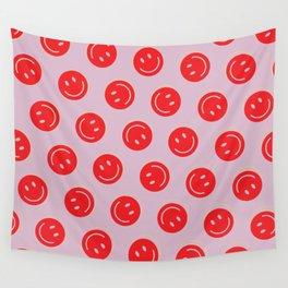All Smiles Good Vibes Polka Dot  Wall Tapestry