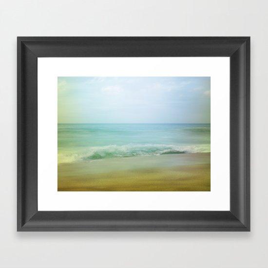 Beach Impression Framed Art Print