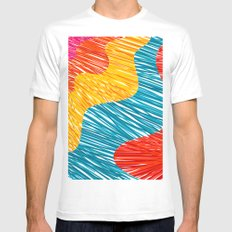 Color waves Mens Fitted Tee White MEDIUM