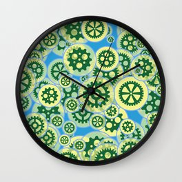 Gearwheels Wall Clock