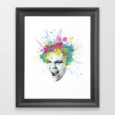 Crazy Colorful Scream Framed Art Print