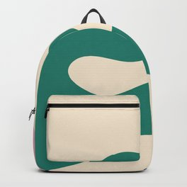I dont know - on champagne background Backpack