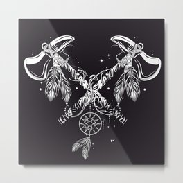 Two crossed tomahawks Metal Print