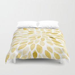 Watercolor brush strokes - yellow Duvet Cover