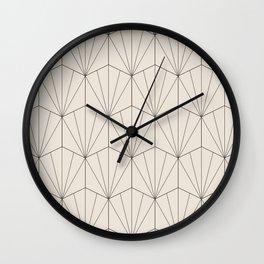 Gisela Geometric Line Pattern - Black & White Wall Clock
