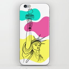 Statue of Liberty Illustration iPhone Skin
