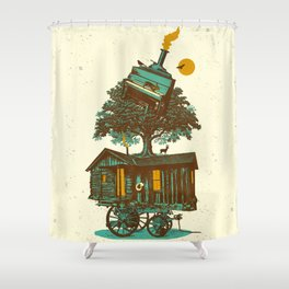 TREE CABIN Shower Curtain