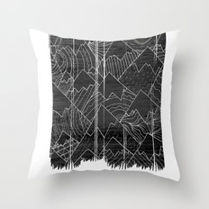 Paintbrush Mounts Throw Pillow