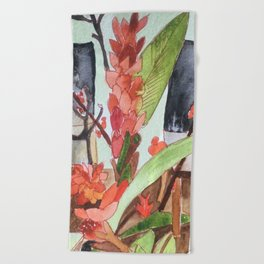 Waiting Room Beach Towel