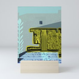 Animal Lover House with Pool Mini Art Print