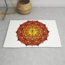 Solar Plexus Mandala Chakra #01 Rug