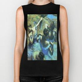 Blue Dancers by Edgar Degas Biker Tank