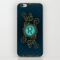 monogram iPhone & iPod Skins featuring Monogram R by Britta Glodde