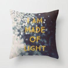 Made Of Light Throw Pillow