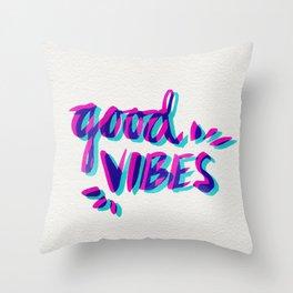 Good Vibes – Magenta & Cyan Throw Pillow