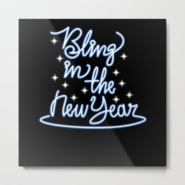 New Year Bling - Gift Metal Print