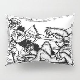Werewolf Hunting medieval style Pillow Sham