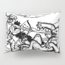 Werewolf Hunting medieval style Pillow Sham