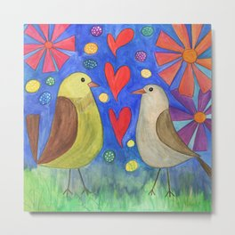 Birds in love Metal Print