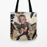 resident evil Tote Bags featuring Resident Evil 4 by Max Grecke