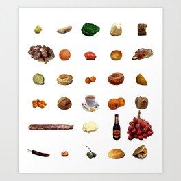 Comida de Colombia Art Print