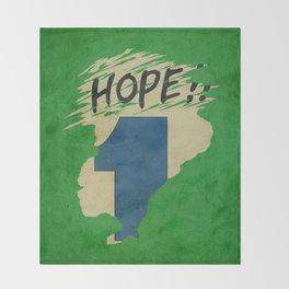 Hope!! (time machine ) Throw Blanket
