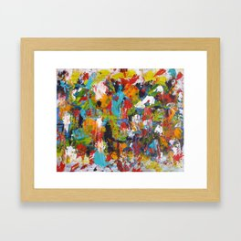 """The Abstract Mediterranean"" Acrylic Painting by Noora Elkoussy Framed Art Print"