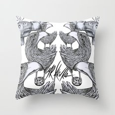 vultures and crows Throw Pillow
