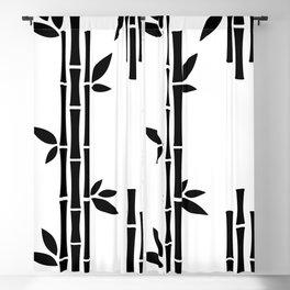 Black Bamboo Blackout Curtain