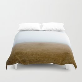 Baseball Field on a Foggy Morning Duvet Cover