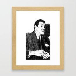 "Portrait of Benjamin ""Bugsy"" Siegel (2) Framed Art Print"