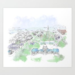 Washington Capitol Art Print