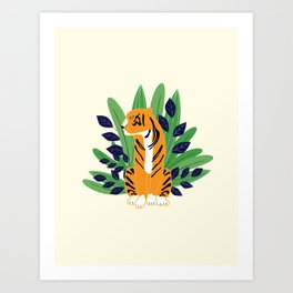 Everyone can be a peacock - tiger Art Print