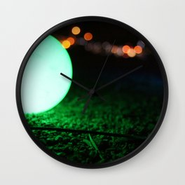 Light and Focus (Green) Wall Clock
