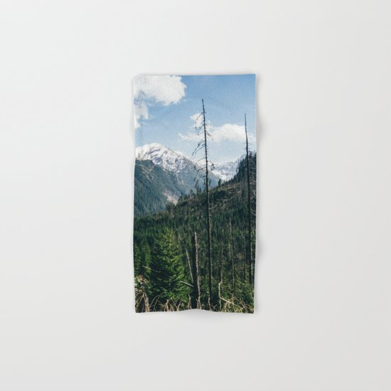 Mountains and Forest Landscape Hand & Bath Towel